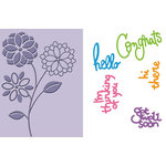 Provo Craft - Cuttlebug - Embossing Folder and Die Cut Combo - Everyday Greetings