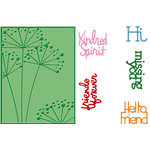 Provo Craft - Cuttlebug - Embossing Folder and Die Cut Combo - Friends Forever