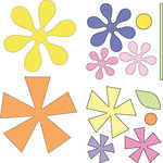 Provo Craft - Cuttlebug - Die Cut Set - 4 Die Cuts - Asterisks