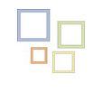 Provo Craft - Cuttlebug - Die Cut Set - 4 Die Cuts - Square Frames, CLEARANCE
