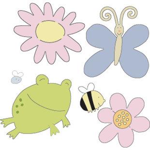 Provo Craft - Cuttlebug - Die Cut Set - 4 Die Cuts - Garden Creatures