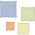 Provo Craft - Cuttlebug - Die Cut Set - 4 Die Cuts - Scallop Squares, CLEARANCE
