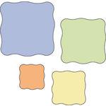 Provo Craft - Cuttlebug - Die Cut Set - 4 Die Cuts - Wavy Squares, CLEARANCE