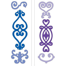 Provo Craft - Cuttlebug - Die Cut Set - 2 Die Cuts - Ornamental, CLEARANCE