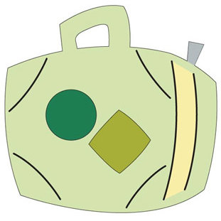Provo Craft - Cuttlebug - Die Cut - Suitcase, CLEARANCE