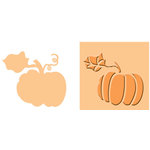 Provo Craft - Cuttlebug - Embossing Folder and Die Cut Combo - Pumpkin Spice