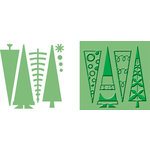 Provo Craft - Cuttlebug - Embossing Folder and Die Cut Combo - Tree Tops