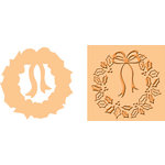 Provo Craft - Cuttlebug - Embossing Folder and Die Cut Combo - Holly Wreath