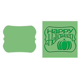 Provo Craft - Cuttlebug - Embossing Folder and Die Cut Combo - Halloween Sign, CLEARANCE