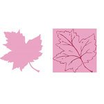 Provo Craft - Cuttlebug - Embossing Folder and Die Cut Combo - Maple Leaf