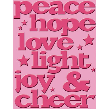Provo Craft - Cuttlebug - Embossing Folder - Joy and Cheer