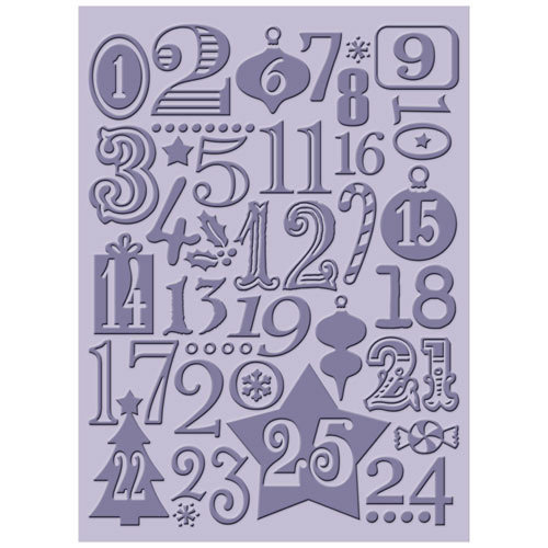 Provo Craft - Cuttlebug - Christmas - Embossing Folder - Christmas Countdown