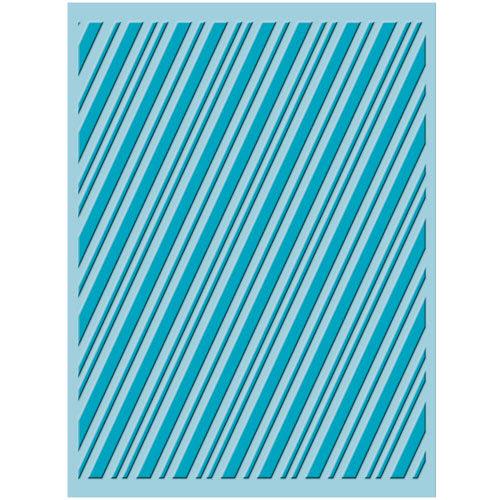 Provo Craft - Cuttlebug - Christmas - Embossing Folder - Candy Cane Stripe