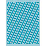 Provo Craft - Cuttlebug - Christmas - Embossing Folder - Candy Cane Stripe