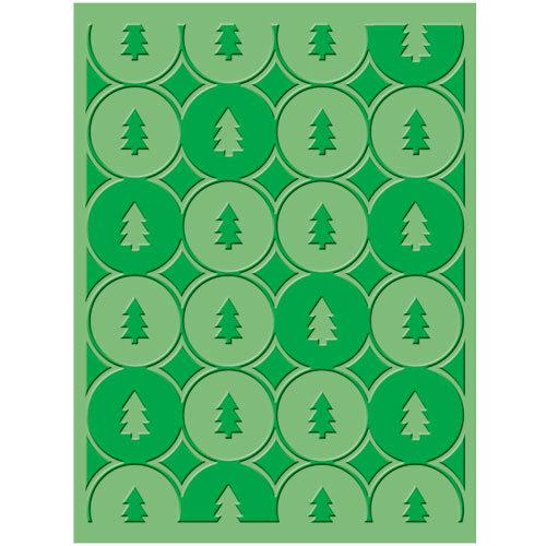 Provo Craft - Cuttlebug - Christmas - Embossing Folder - Winter Trees