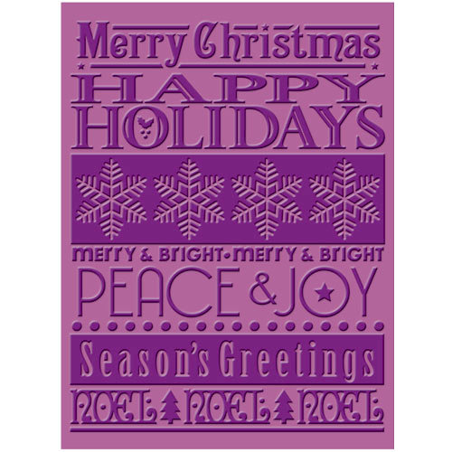Provo Craft - Cuttlebug - Christmas - Embossing Folder - Seasons Greetings
