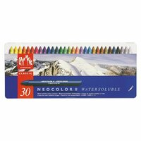 Caran DAche - NeoColor II - Water Soluble Crayons - Pastel - 30 Pack