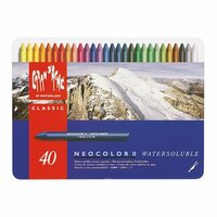 Caran D'Ache - NeoColor II - Water Soluble Crayons - Pastel - 40 Pack