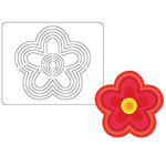 Provo Craft - Coluzzle - Clear Plastic Cutting Template - Flower