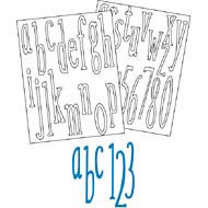 Provo Craft - Coluzzle - Clear Plastic Cutting Template - Runway Alphabet - Lowercase, CLEARANCE