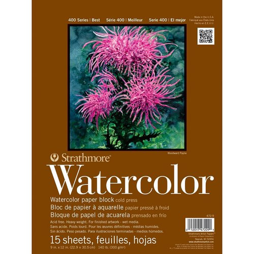 Strathmore - 9 x 12 Watercolor Paper Pad - 15 Sheets