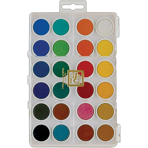Loew-Cornell - Dry Pan Watercolor Paint Cakes - 24 Pack