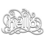 Penny Black - Creative Dies - Scroll Hello