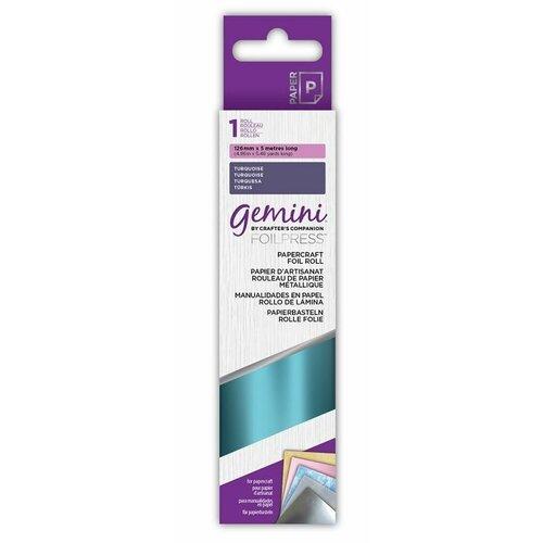 Crafter's Companion - Gemini - FoilPress - Papercraft Foil Roll - Turquoise