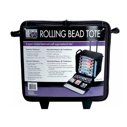 Crop In Style - Rolling Bead Tote - Black