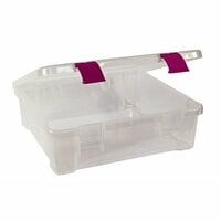 Creative Options - Album and Craft Tub - Clear with Magenta