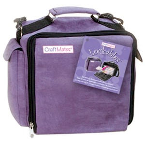Craft Mates - Lockables - Craft Embellishment Organizer - Purple Ultrasuede