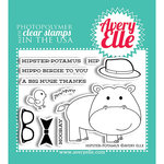 Avery Elle - Clear Acrylic Stamps - Hipster-Potamus