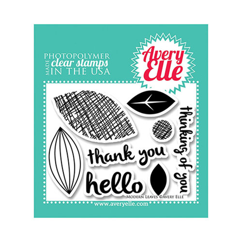 Avery Elle - Clear Acrylic Stamps - Modern Leaves
