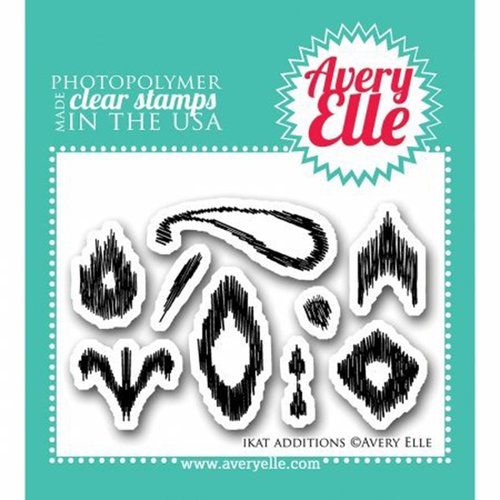 Avery Elle - Clear Acrylic Stamps - Ikat Additions