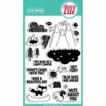 Avery Elle - Clear Acrylic Stamps - Happy Camper