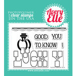 Avery Elle - Clear Acrylic Stamps - Lucky