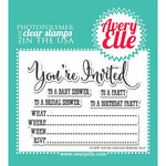 Avery Elle - Clear Acrylic Stamps - You're Invited