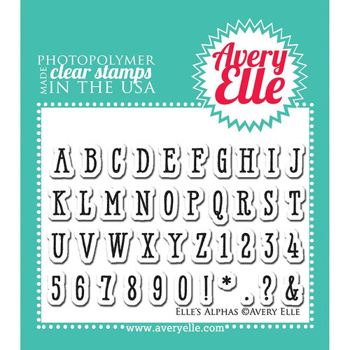 Avery Elle - Clear Acrylic Stamps - Elle's Alpha's