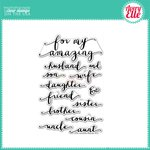 Avery Elle - Clear Acrylic Stamps - Amazing