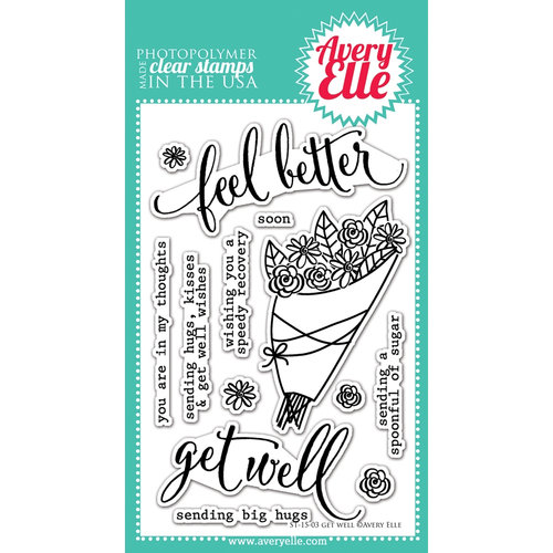 Avery Elle - Clear Photopolymer Stamps - Get Well