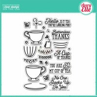 Avery Elle - Clear Photopolymer Stamps - Tea Time