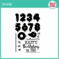 Avery Elle - Clear Acrylic Stamps - Numbered Balloons