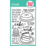 Avery Elle - Clear Acrylic Stamps - Bring On The Cake