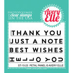 Avery Elle - Clear Acrylic Stamps - Petal Panel