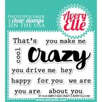 Avery Elle - Clear Acrylic Stamps - Simply Said - Crazy
