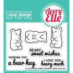 Avery Elle - Clear Acrylic Stamps - Beary Sweet Wishes
