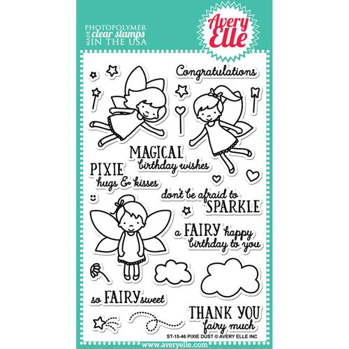 Avery Elle - Clear Photopolymer Stamps - Pixie Dust