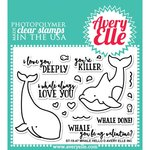 Avery Elle - Clear Acrylic Stamps - Whale Hello