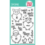 Avery Elle - Clear Acrylic Stamps - Hogs and Kisses