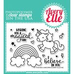 Avery Elle - Clear Acrylic Stamps - Be A Unicorn